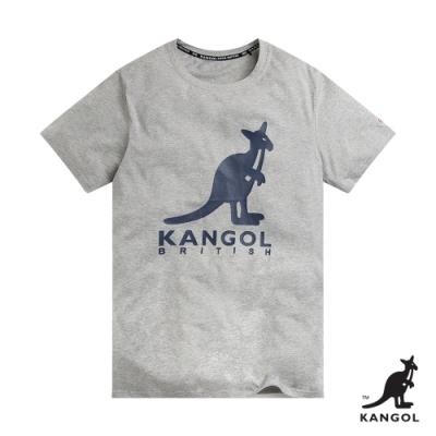 【KANGOL】經典LOGO圓領短袖T恤-女-灰