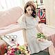 東京著衣-yoco 小巴黎多色蕾絲拼接傘袖縮腰洋裝-S.M.L(共三色)