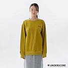 H UNDERSCORE 全新潮牌 男女裝 - 中性款經典刺繡標語大學衛衣 - 綠色