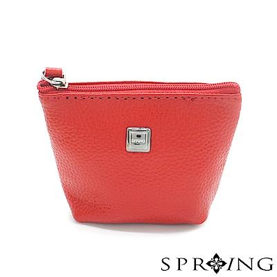 SPRING-特價-微風城市鑰匙圈零錢包-寶石紅