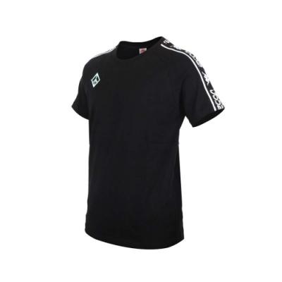 KAPPA DD52聯名男女短袖T恤-限量-菱格世代 純棉 台灣製 休閒上衣 33145CW-XND 黑粉綠白