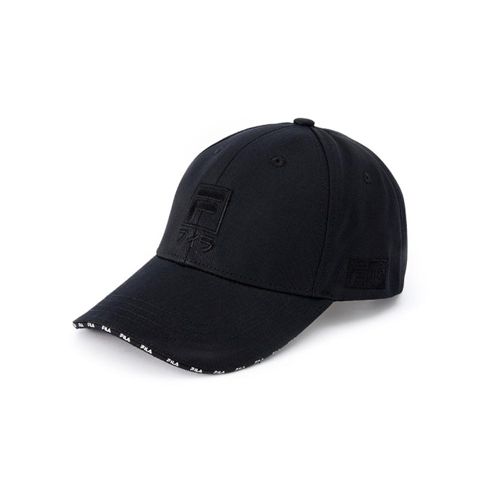 FILA 日文LOGO棒球帽-黑 HTV-5003-BK