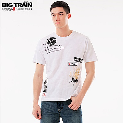 BigTrain加大西涼雄獅馬超潮流T-男-白色