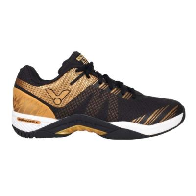 VICTOR 男專業羽球鞋-3E-訓練 羽毛球 寬楦 附鞋袋 勝利 S82LTD-CX 黑金