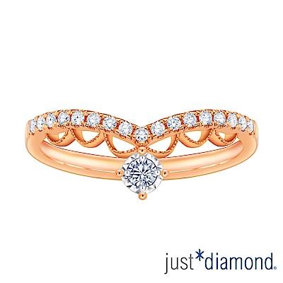 Just Diamond Lacy Crown18K玫瑰金系列 鑽石戒指