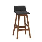Bernice-羅朗布面工業風吧台椅/高腳椅/單椅(高)-42x45.5x88.5cm