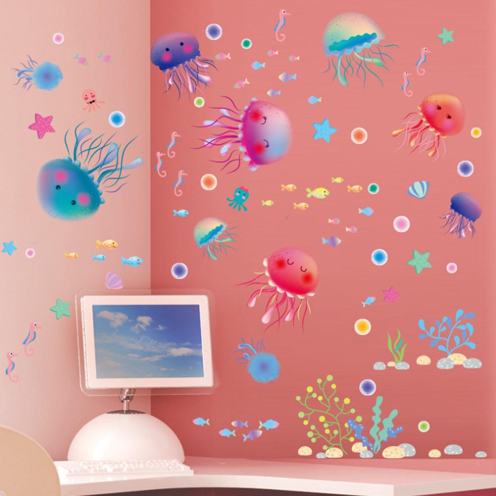 半島良品 DIY無痕壁貼-可愛水母 XL3042 30x45cm