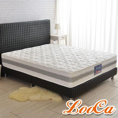 LooCa 法國防蹣+防蚊+護框護背硬式獨立筒床墊-加大6尺