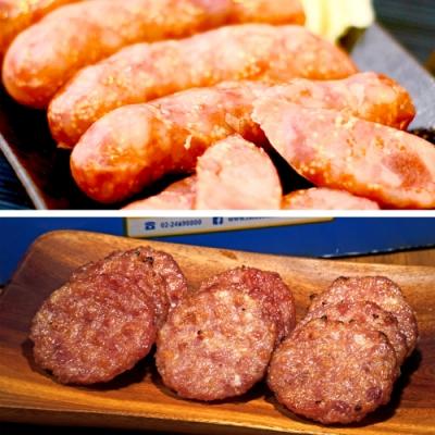 阿里棒棒‧香肉禮盒 (哇沙米飛魚卵香腸x1+啵啵肉乾x1)
