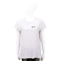 KARL LAGERFELD K/IKONIK 躲貓貓LOGO設計灰色棉質T恤