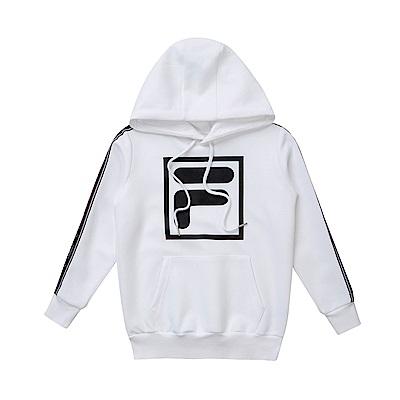 FILA KIDS #東京企劃原宿篇 童連帽T恤-白 1TES-8420-WT