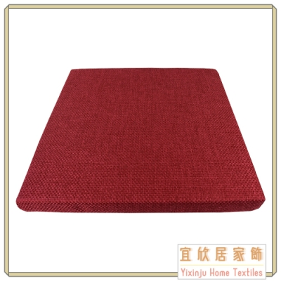 【宜欣居傢飾】亞麻編織格紋-精緻實木椅座墊 5入(紅) 55*55*5cm 台灣製