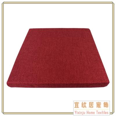 【宜欣居傢飾】亞麻編織格紋-精緻實木椅座墊 6入(紅) 55*55*5cm 台灣製