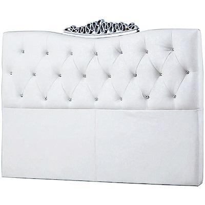 文創集 奧亞法式6尺皮革雙人加大床頭片(二色可選)-183x10x117cm免組