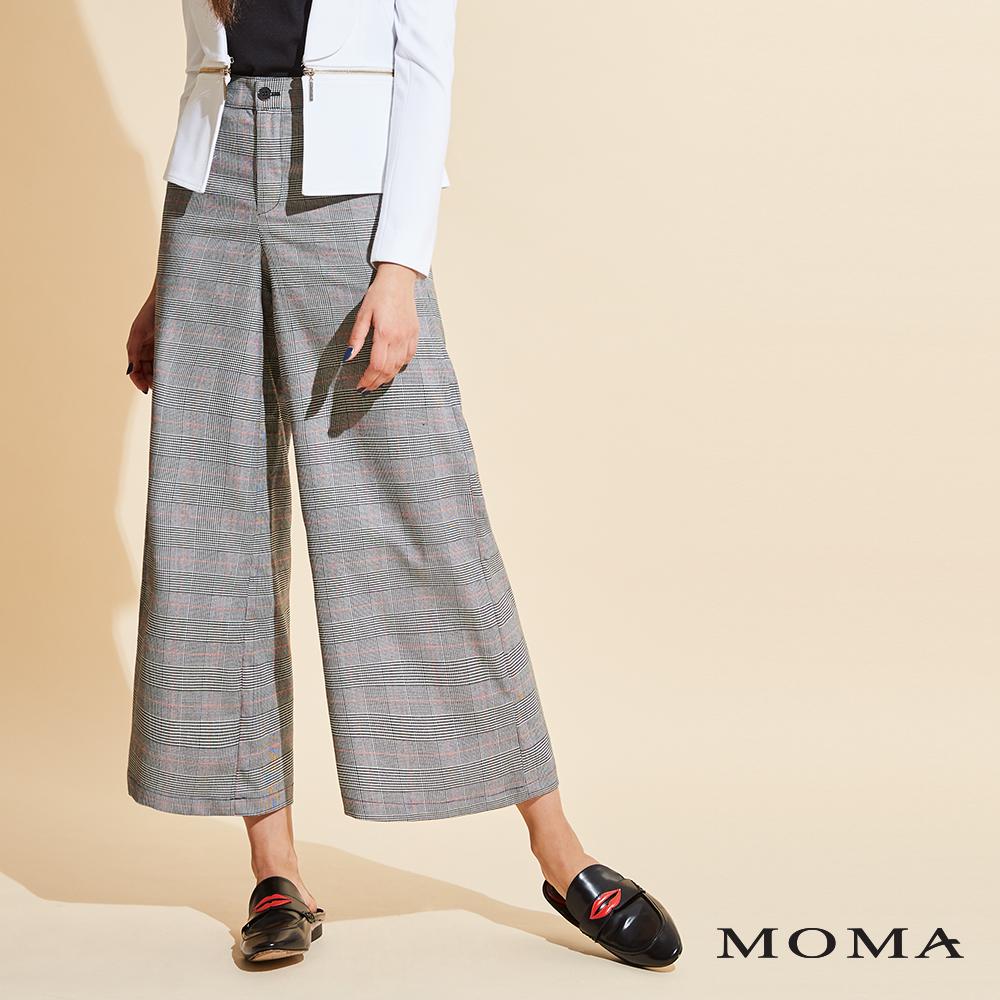 (網路獨賣)MOMA格紋寬版長褲