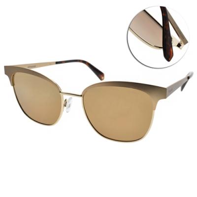Polaroid 水銀偏光太陽眼鏡 修飾小臉貓眼款/霧金 #PLD4055S AOZQD
