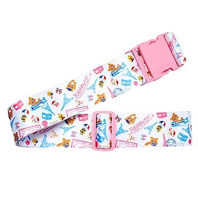 【Rilakkuma 拉拉熊】甜蜜拉拉熊 - 行李束帶(白色鐵塔)