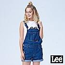 Lee 牛仔吊帶短褲/SMU-水洗藍