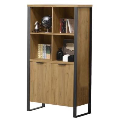 【AT HOME】日式簡約橡木色3尺書櫃/書架/展示櫃/收納櫃(雅博德)
