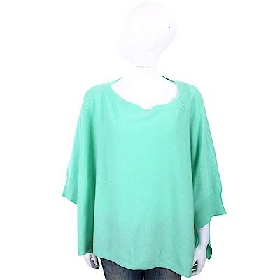 ALLUDE 喀什米爾綠色斗篷式針織羊毛衫