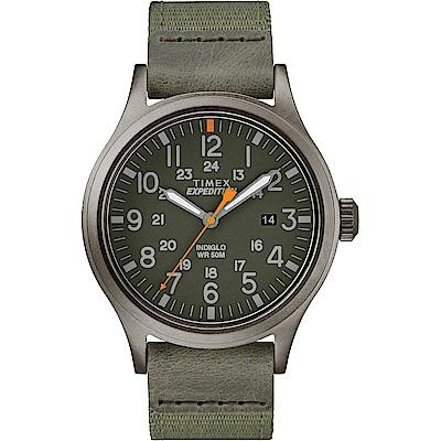 TIMEX 天美時 遠征系列 探險手錶-深灰x綠/40mm