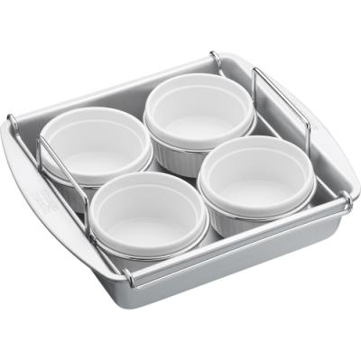 《KitchenCraft》附架布丁烤杯4入