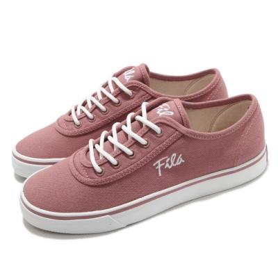 Fila 休閒鞋 C917U 帆布鞋 女鞋 斐樂 基本款 穿搭推薦 百搭 粉 白 5C917U511
