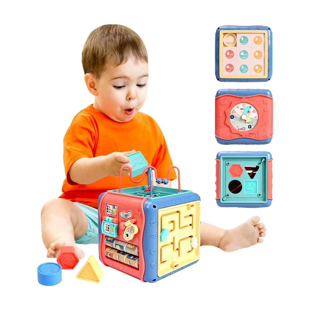 colorland 嬰幼兒玩具六面盒寶寶拍拍鼓學習六面屋手拍鼓