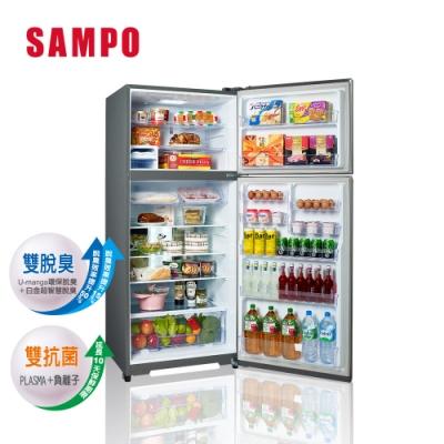 SAMPO 聲寶 580公升雙門變頻冰箱 SR-B58D(K3) 漸層銀