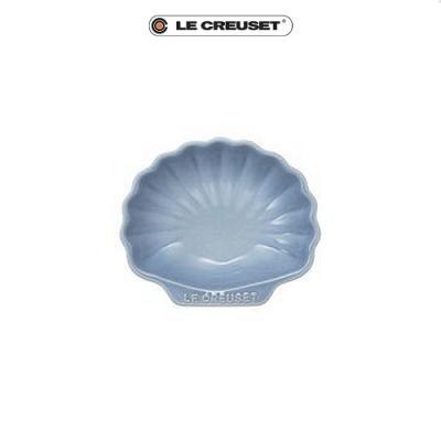 [任4件6折] LE CREUSET 瓷器貝殼盤(小)(海岸藍)