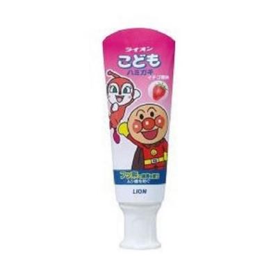 日本 LION 麵包超人 草莓牙膏40g