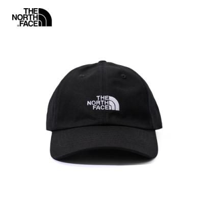 The North Face北面男女款黑色防曬透氣運動帽|3SH3JK3