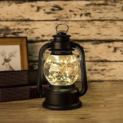 法國三寶貝 復古火樹銀花煤油燈- 黑色