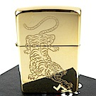 ZIPPO 美系~Tattoo Tiger-虎紋圖案光澤蝕刻加工打火機