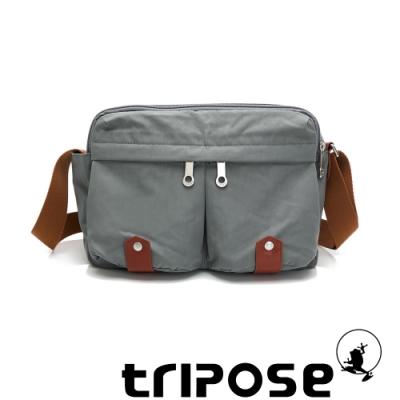 tripose MOVE系列多格層機能斜背包 貴族灰