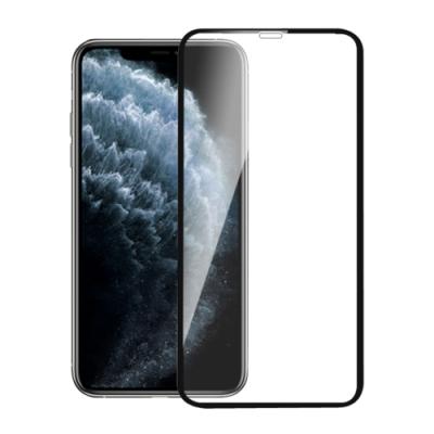 iPhone11 Pro Max 全滿版3D曲面9H鋼化玻璃保護貼 黑(6.5吋)