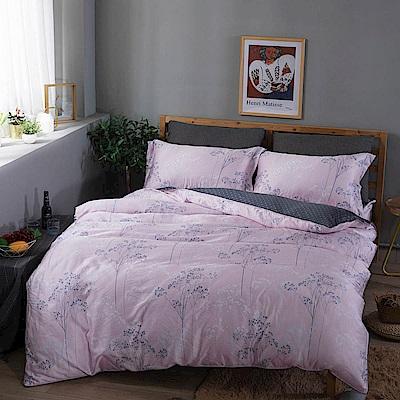 夢工場 玫瑰芬芳40支紗天絲兩用被床包組-雙人
