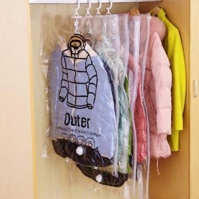 EZlife(6入組)可掛式真空收納袋(中)贈枕頭玩偶晾曬網