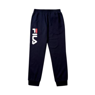 FILA KIDS #WONNIE系列大童針織長褲-丈青1PNT-8454-NV