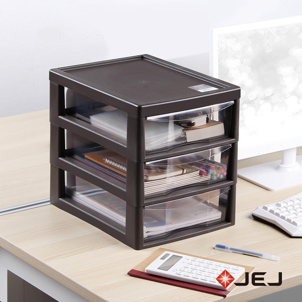 【nicegoods】日本JEJ 辦公桌上型A4文件收納櫃-3大抽