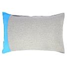 YVONNE COLLECTION 純棉拼接枕套(可搭配拉斯維加斯被套組)-淺灰/藍