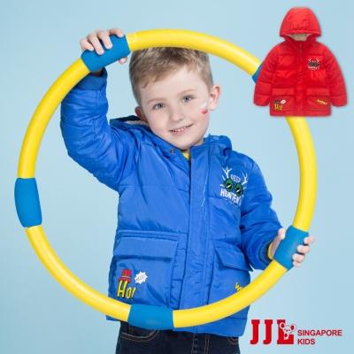 JJLKIDS 雙口袋內加絨棉刷毛鋪棉連帽外套(2色)