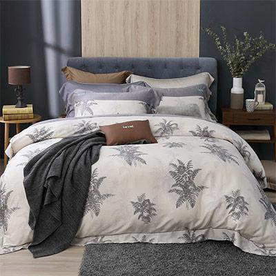 LASOL睡眠屋-100%奧地利天絲 雙人兩用被床包四件組300織 拂曉降臨時
