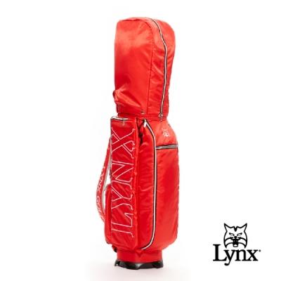 【Lynx Golf】Lynx刺繡輕量9吋口徑四口球桿袋-紅色