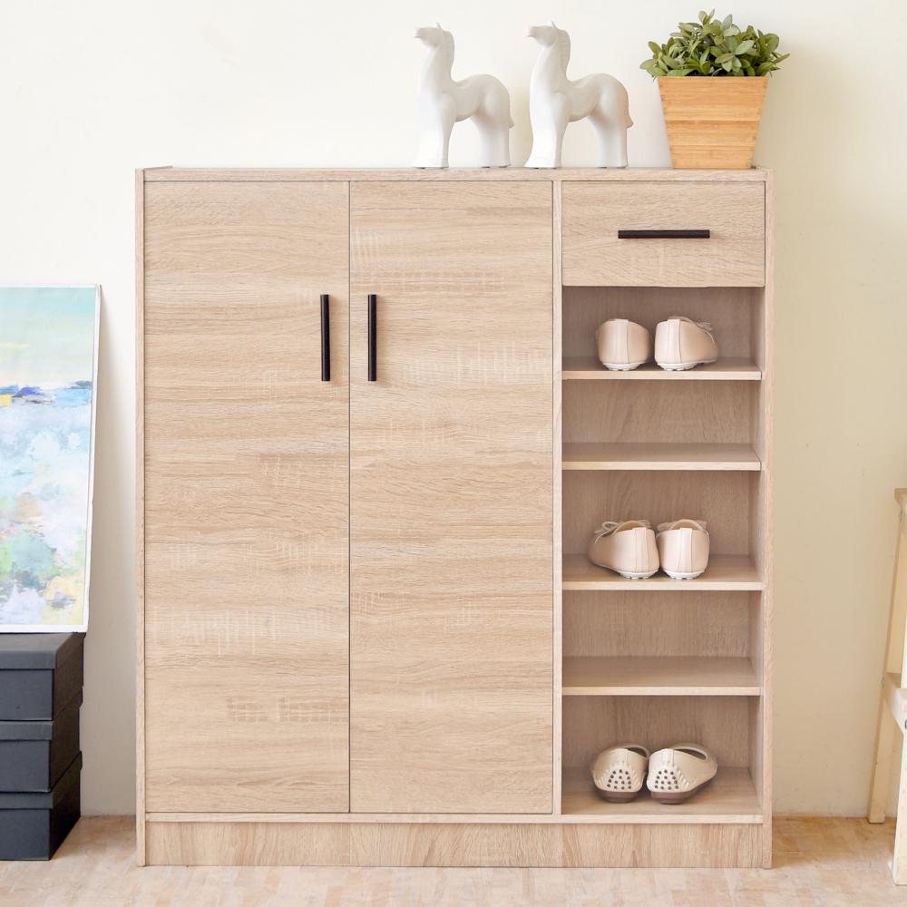 《HOPMA》DIY巧收大容量二門一抽鞋櫃-寬85 x深30 x高97.5cm