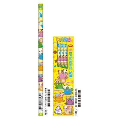 利百代 CB-141 可愛家族塗頭鉛筆HB(一盒12枝)