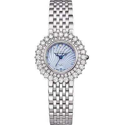 Ogival 愛其華 絢彩珠寶石英腕錶-水漾藍 380-014DLW