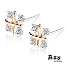 蘇菲亞SOPHIA - 火花雙色鑽石耳環