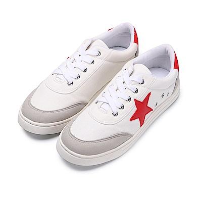 BuyGlasses 經典三色星星運動休閒鞋-紅