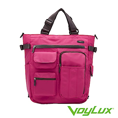 VoyLux 伯勒仕-Clebag城市快捷-輕量四合一 多功能托特包Tote Bag桃紅色